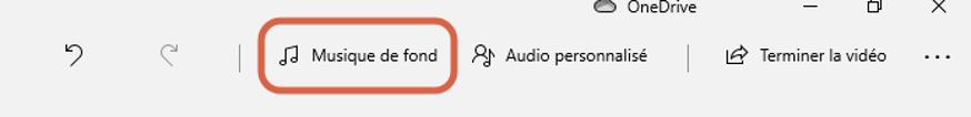 Ajout de musique de fond avec le logiciel Photos de Windows 10