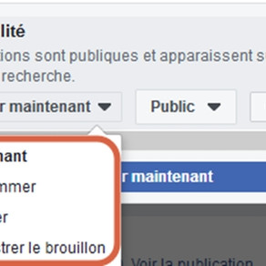 Programmer les publications sur la page Facebook