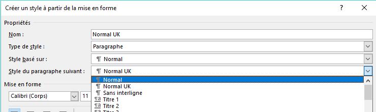 """Après avoir appuyé sur la touche ENTREE de votre clavier, le style du paragraphe suivant sera en général """"Normal"""" afin de retrouver votre mise en page de paragraphe habituelle."""
