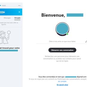 Skype (Windows 10): Problème avec la caméra  et création d'un compte