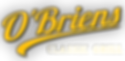 O'Briens Classic Grill  Logo Kapuskasing ON