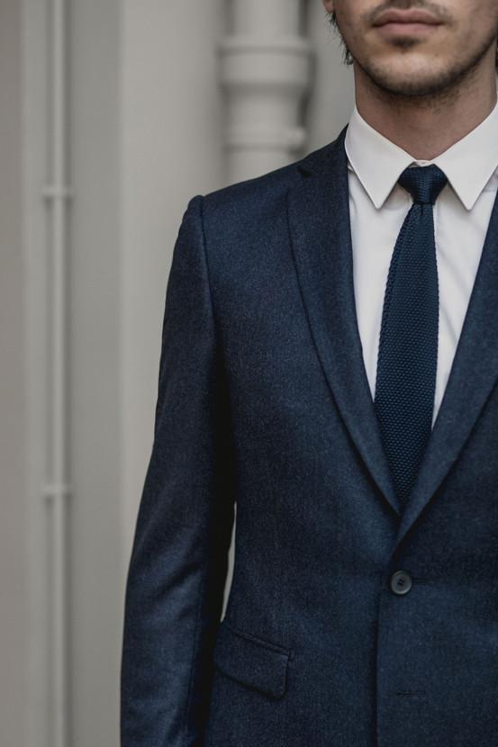 Costume flanelle bleu marine