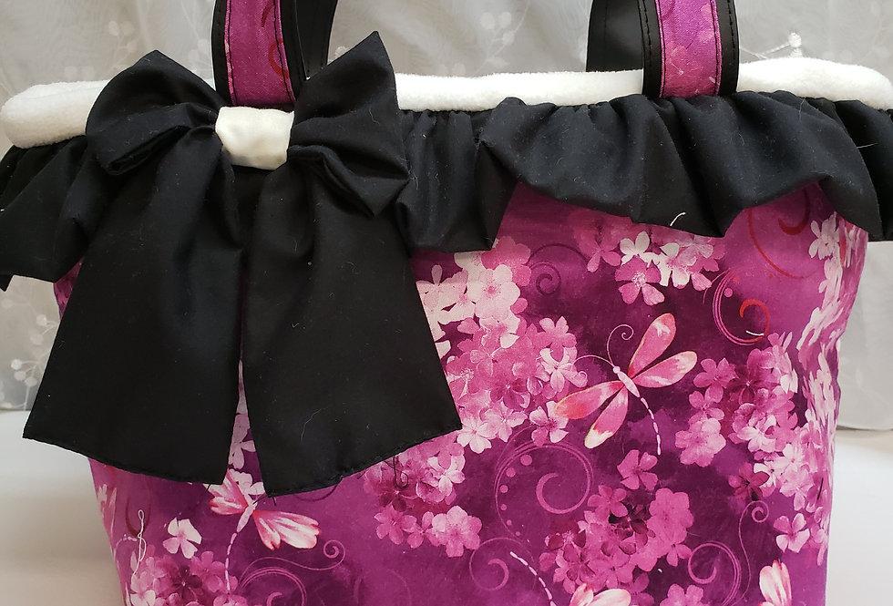 Bijoux sac de transport. Doux papillon en framboise