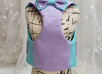 Coquin style harnais, turquoise et lilas