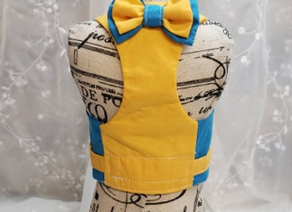 Coquin style harnais indigo et jaune