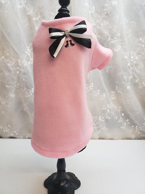 Manteau molleton rose bébé non doublé