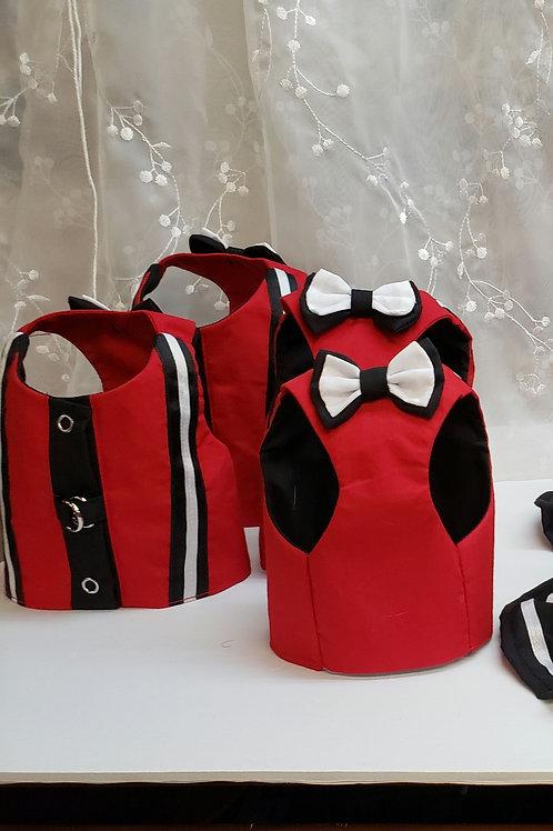 Coquin Élégance en rouge et noir