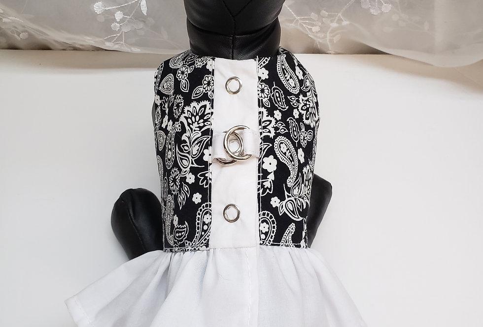 Coquine Paisley jupette blanche