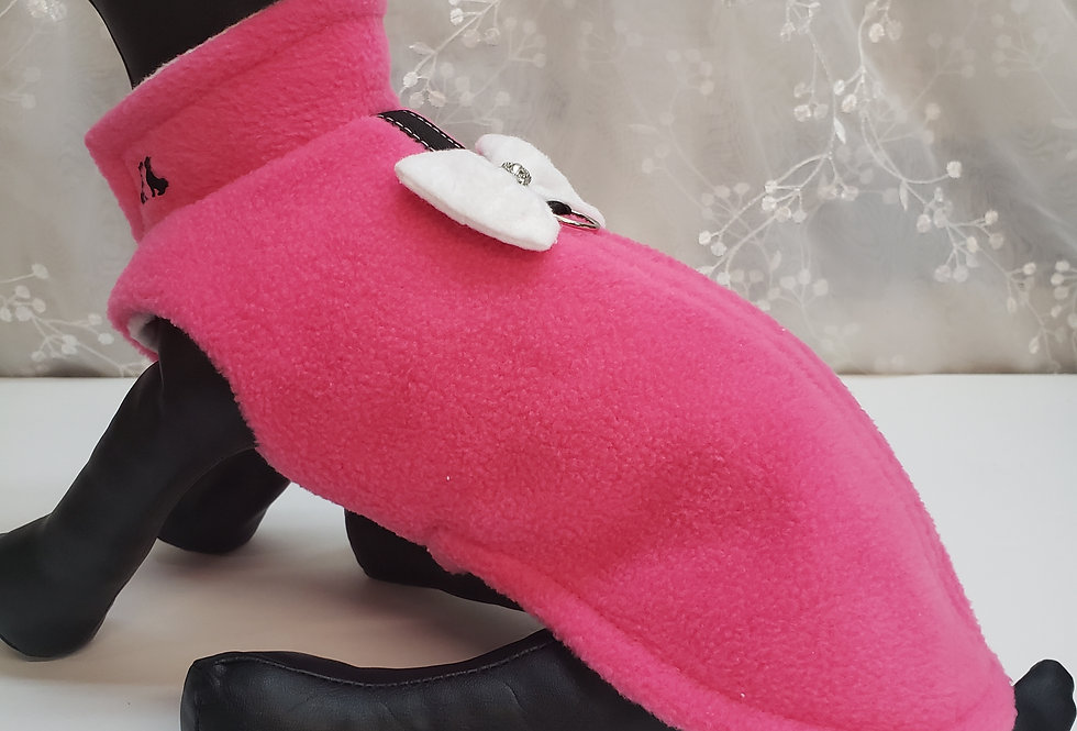 Manteau bulle rose bonbon