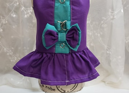 Coquine style harnais violet et sarcelle