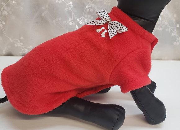 Veste doux molleton rouge