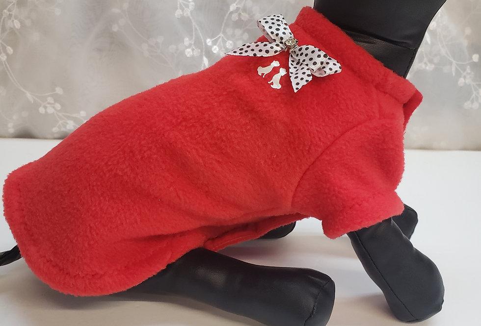 Manteau molleton rouge non doublé