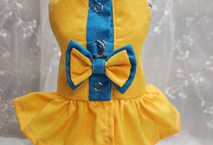 Coquine style harnais jaune et indigo