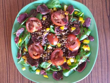 """Salade """"Popeye au Périgord"""""""