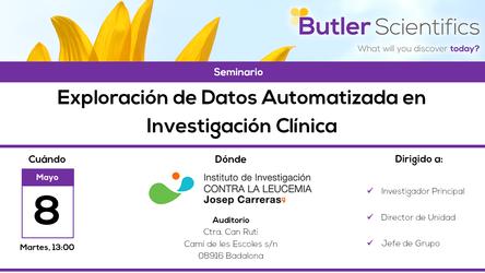 Expertos en EDA en el Institut Josep Carreras (8/5/2018)