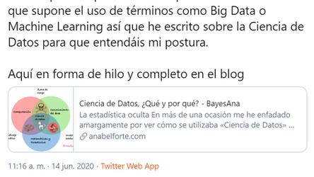 Ciencia de Datos, Estadística y Otras Bestias.