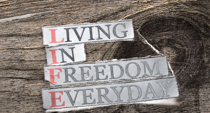 Freedom is who we really are not something that is given to us.