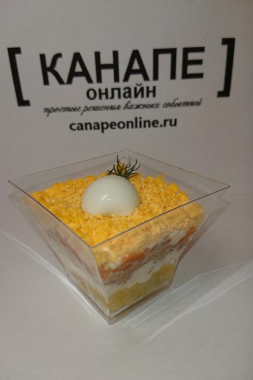 Салат Мимоза с картофелем 90 гр