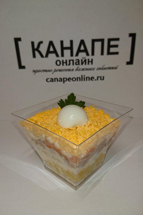 Салат Мимоза с рисом и сыром 100 гр