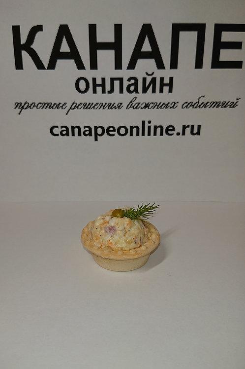 Тарталетка с салатом Оливье 25 гр