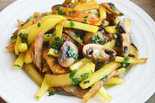 Картофель жареный с грибами 100 гр