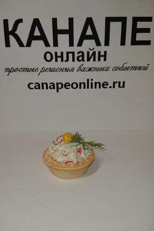 Тарталетка салат Крабовый 25гр
