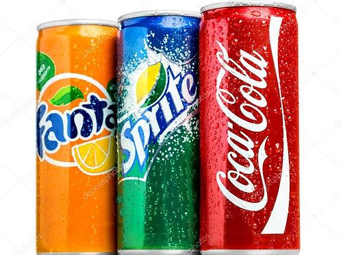 Кока-Кола, Фанта, Спрайт 0,33 л железная банка