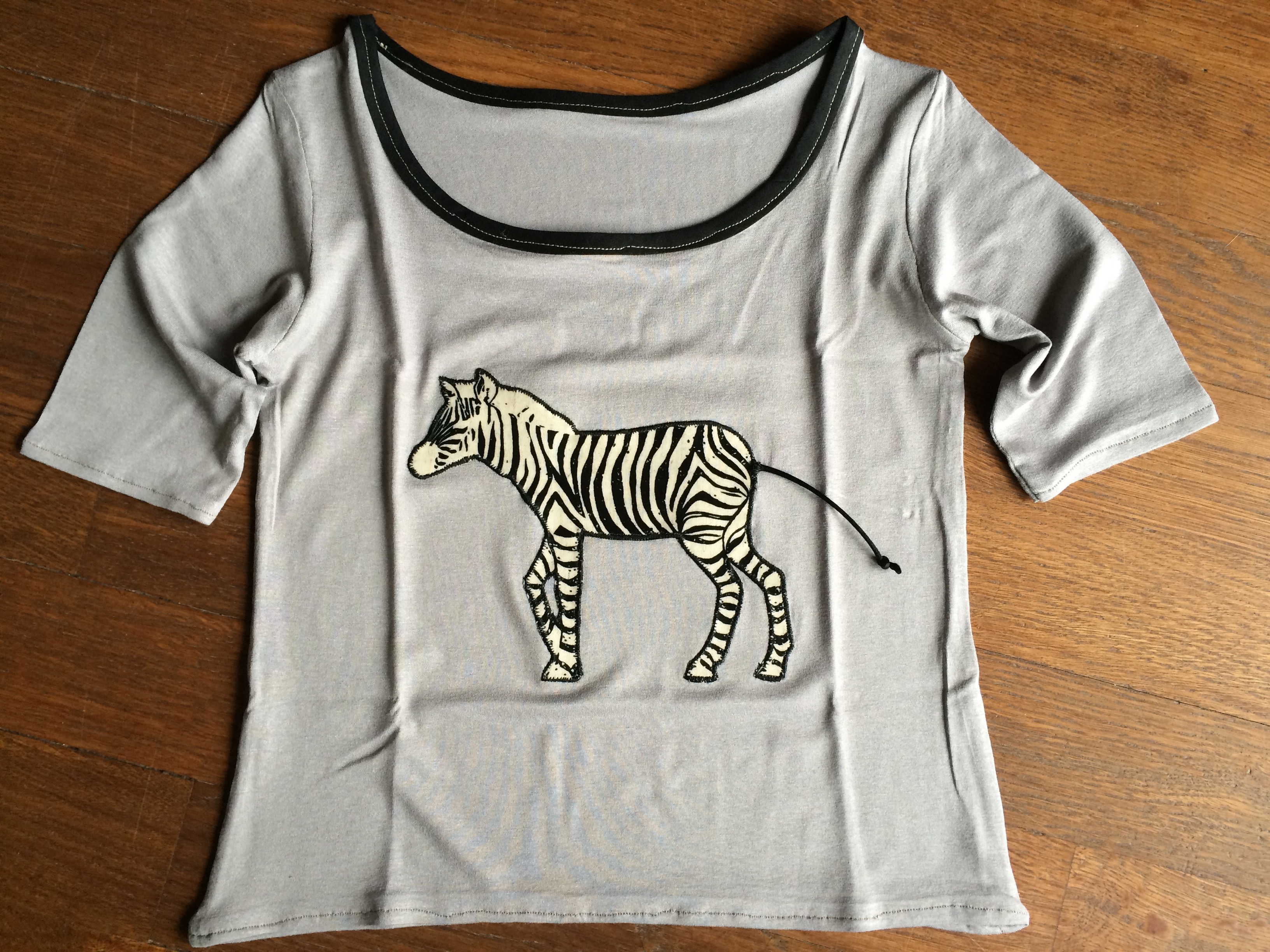 Teeshirt appliqué zèbre