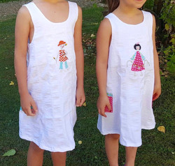 "Robes appliqués ""Madame/Monsieur"""