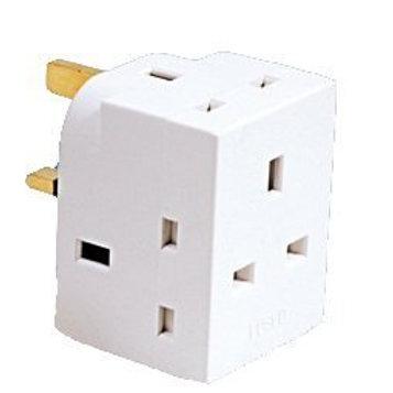 3 way plug adaptor