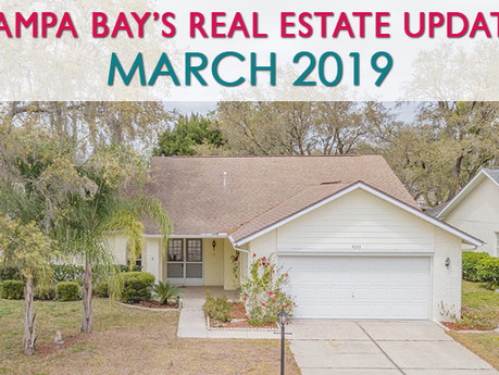 Tampa Bay's Monthly Real Estate Market Update - March 2019