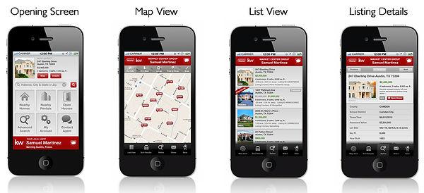 Keller Williams Mobile App Screen Shots