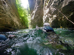 Schwimm Wanderung