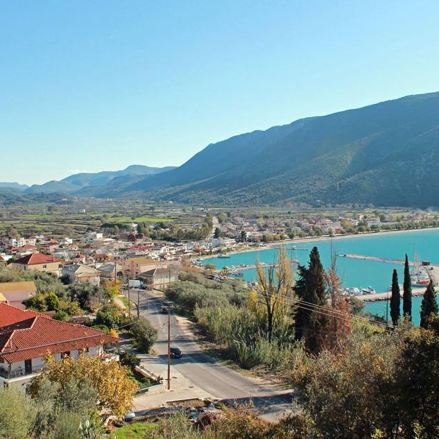 Blick auf die Bucht von Plataria