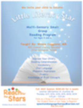 Little Literacy Star Literacy  Program F