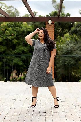 Vestido Jacquard Plus Size