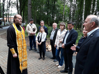 В Центральном парке прошел молебен