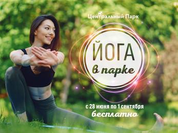 Йога в парке с 12 по 15 июля