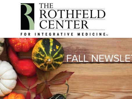 Fall Updates!: The Rothfeld Center Newsletter