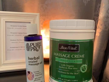 Curious about the massage creme & oil I use?