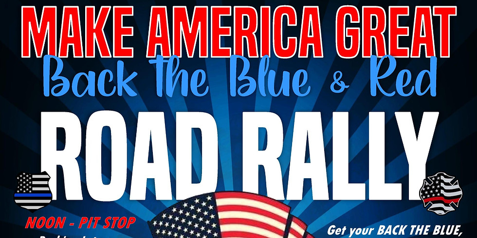 Make America Great/Back the Blue & Red Road Rally and Cornhole Tournament