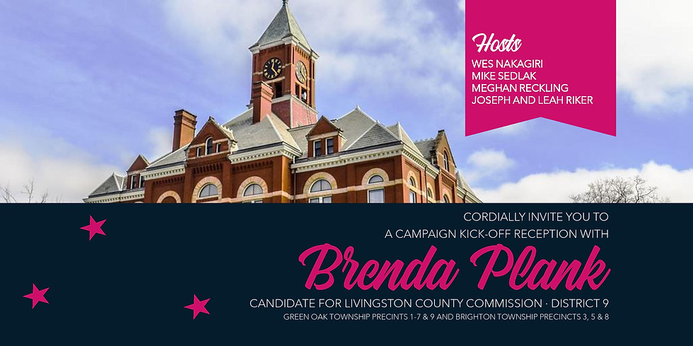 Brenda Plank for County Commissioner Campaign Kick-Off Reception