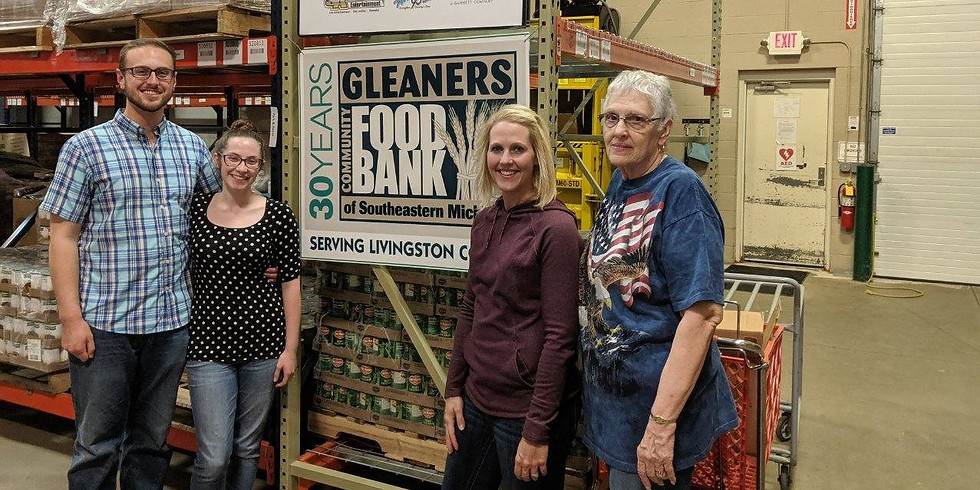 Volunteer with the LCRP at Gleaner's Food Bank
