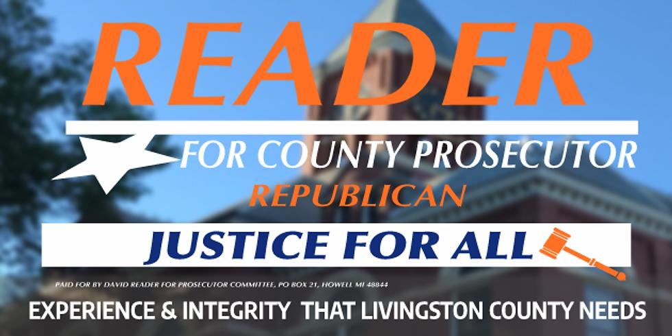 David Reader for County Prosecutor Fundraiser