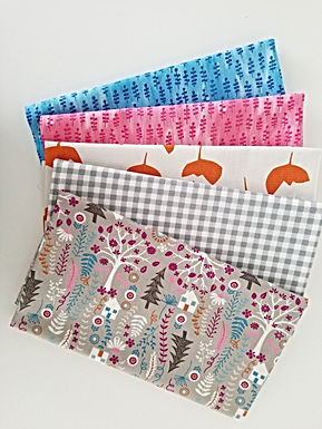 "Timeless Treasures ""Forest Frolic"" and Windham Half-Yard Bundle (5 pieces)"