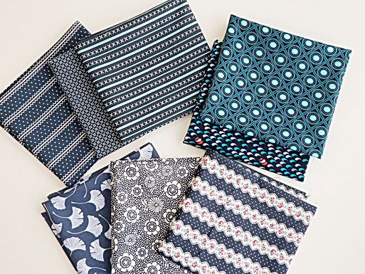 Moda & Dear Stella Navy Blue Fat Quarter Bundle (8 pieces)