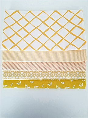 Moda Half-Yard Yellow Blender Bundle (five pieces)