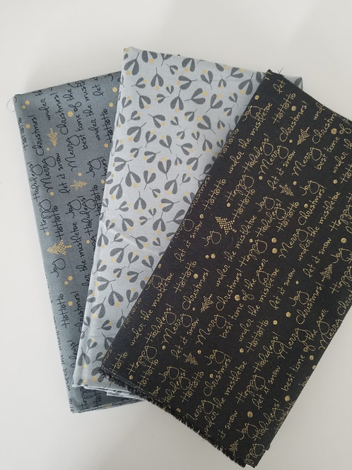 "Moda Fabrics ""White Christmas"" Yard Bundle (3 pieces)"