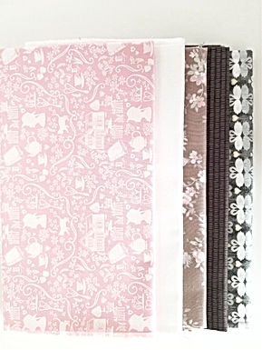 Anne of Green Gables, Floral, and Swans Half-Yard Bundle (five pieces)
