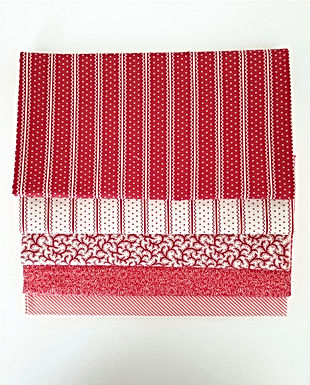 Moda Half-Yard Red Blender Bundle (five pieces)